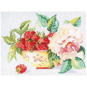 刺繍 輸入キット RTO Strawberry in a bowl