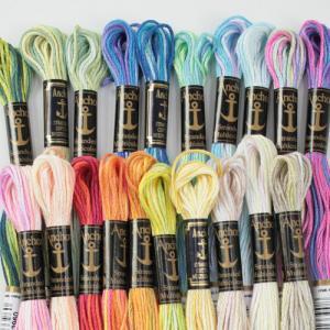 刺しゅう糸 Anchor 25番 マルチ 1   【 サイズ(約) 】 長さ:8m 【 材質 】 綿...