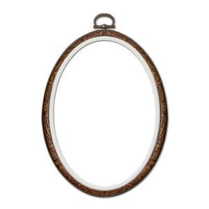 刺繍 刺しゅう額 オリムパス おしゃれフープ 楕円形 14×10cm 木目 shugale1