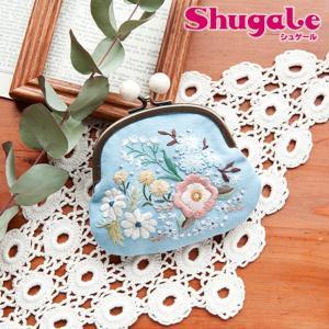 刺繍 キット piece Rairaiさんのノスタルジックフラワー がま口 Shadow blue garden|期間限定SALE||shugale1