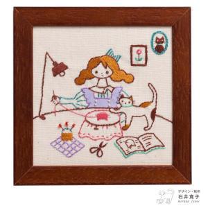 刺繍 キット COSMO(ルシアン) ねこと暮らす毎日 SEWING|shugale1