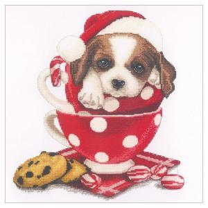 刺繍 輸入キット Oben(オーベン) Christmas St.Bernard dog|shugale1