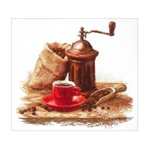 ロシアのメーカー、Oben(オーベン) のクロスステッチ・刺繍キットです。  コーヒー好きの方にはた...