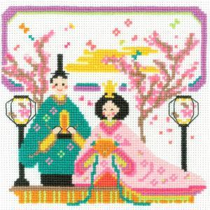 刺しゅうキット かわいいひなまつり 華やか雛まつり(クロスステッチ) 刺繍 キット 初心者 おひなさま ひなまつり 雛祭り 期間限定SALE  shugale1