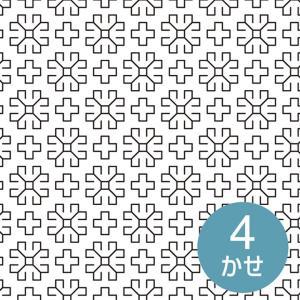 刺し子布 印刷済み布パック 一目刺しの花ふきん マーガレット(白) 晒木綿 刺し子布 図案印刷済み 期間限定SALE  shugale1