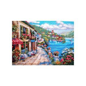 刺繍 Dimensions Overlook Cafe|刺しゅうキット クロスステッチ GOLDCOLLECTION PETITES|shugale1