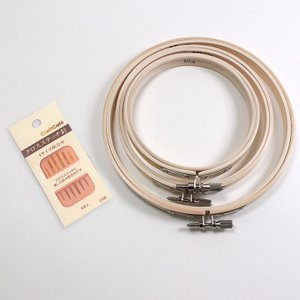 刺繍枠 (小)3サイズ&クロスステッチ針セット 日本製 | 刺しゅう 刺しゅう枠 枠セット|期間限定SALE ||shugale1