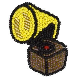 ビーズ刺しゅう ブローチキット レトロ蓄音機|かわいい ブローチ MIYUKI|shugale1