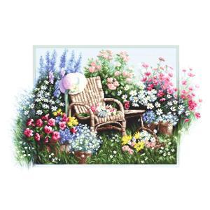 刺繍 Luca-S Blooming garden (花咲く庭)|クロスステッチ 輸入キット フラワー 花 庭 ルーカス|shugale1