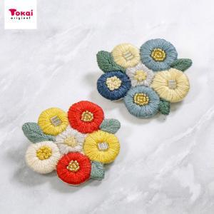 ブローチを作れるキット「floret garden」。 花束のような、お花畑のような。 癒やしカラー...