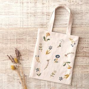 刺繍 COSMO ボタニカル刺しゅう No.92906 フラワーガーデンのミニトート バッグ フラン...