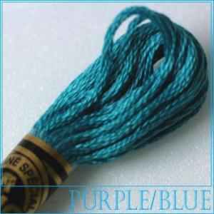 刺繍 刺しゅう糸 DMC 25番 パープル・ブルー系 3810|ししゅう糸 刺繍糸 ディーエムシー ...