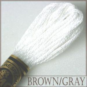 刺繍 刺しゅう糸 DMC 25番 ブラウン・グレー系 B5200|ししゅう糸 刺繍糸 ディーエムシー...
