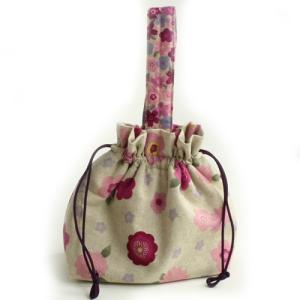 【生地と同時購入で1円】参考寸法図 巾着バッグ