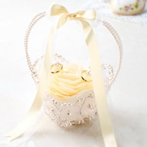 リングピロー キット 手作りキット フィオーレ WW-125 シャンパン 結婚式