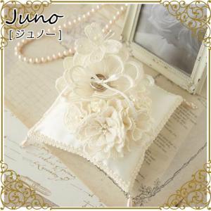 リングピロー 手作りキット (ジュノーJuno) 大きなお花とブーケのピロー H431-153 結婚...