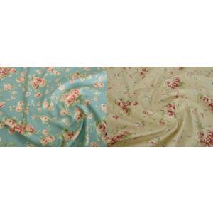 花柄の、綿100%のシャーティング生地です。   パッチワークはもちろん、洋服や、小物やクッションカ...