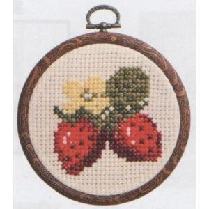 オリムパス 刺しゅうキット 7325 ベージュ イチゴの商品画像