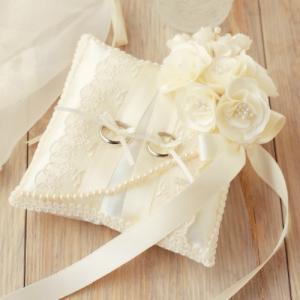 リングピロー モッコウバラのリングピロー 手作りキット H431-136 結婚式