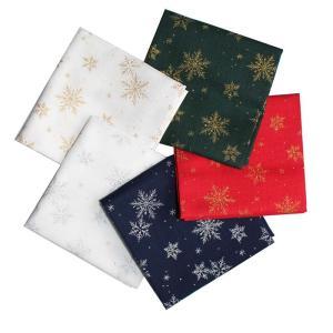 クリスマス生地 カットクロス5枚セット 結晶柄|shugeiya