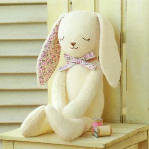 ベビー 手作り(ぬいぐるみキット)オーガニックコットンキット やわらか手触りのウサギ shugeiya