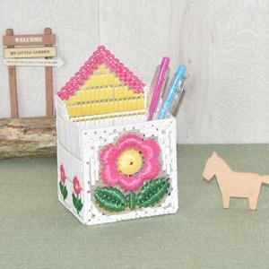 夏休み 工作(子供手芸)自由研究 小学生 お花の家のペン立て|shugeiya