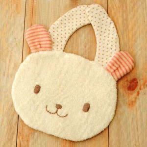 ベビー 手作りスタイ(よだれかけ)オーガニックコットンキット にっこりウサギの スタイ 手作りキット|shugeiya