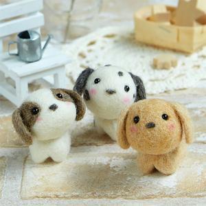 羊毛フェルト(フェルト羊毛) キット 小さなお友達 いぬたち|shugeiya
