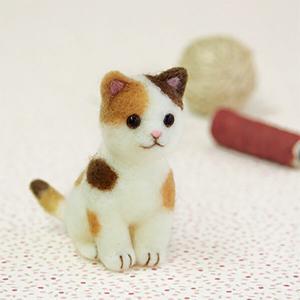 アクレーヌでつくるマスコット 三毛猫|shugeiya