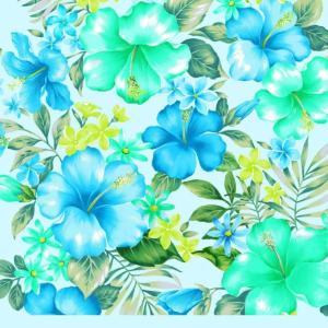 キャシー中島(キャシーマム) ハワイアン生地 Island Style Kathy Mom プアハイビスカス ¥126は10cmの御値段です(30cm以上10cm単位) shugeiya
