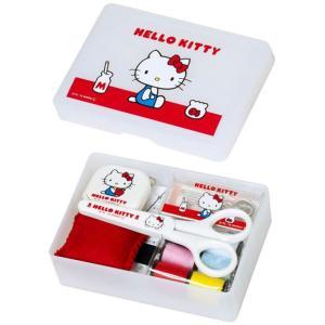 ハローキティ 裁縫セット(ソーイングセット) 小学生 女の子 家庭科用 ハローキティ ホワイト(抗菌加工)|shugeiya