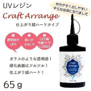 UVレジン液 クラフトアレンジ 超ハードタイプ  クリア(紫外線効果樹脂)65g |shugeiya
