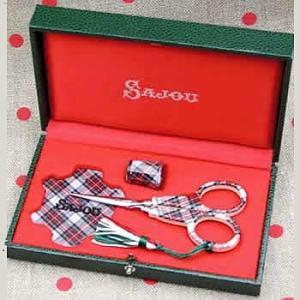 ◆◆フランス輸入雑貨 サジュー(Sajou) はさみ セット ecossais|shugeiya