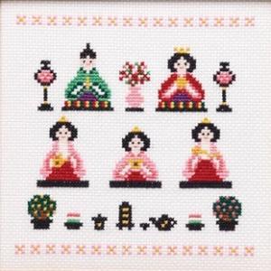 クロスステッチ 刺繍キット ひなまつり|shugeiya