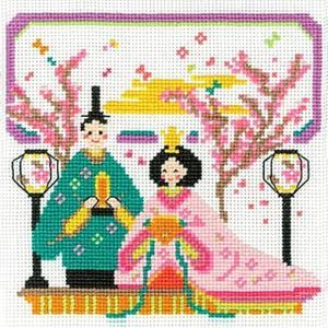 オリムパス おひなさま (ひな祭り)クロスステッチ 刺繍(刺しゅう)キット 華やか雛まつり|shugeiya
