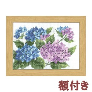 オリムパス クロスステッチ 刺繍キット 12か月の花のフレーム 6月 あじさい(額付)|shugeiya