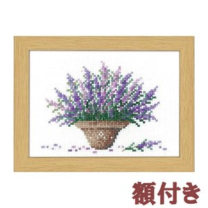オリムパス クロスステッチ 刺繍キット 12か月の花のフレーム 7月 ラベンダー(額付)|shugeiya