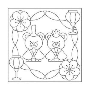 リハビリ(作業療法)花ふきん布パック くまのひなまつり|shugeiya