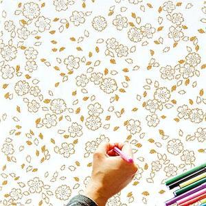 大人のぬり絵 ちりめん細工  一越ちりめん 布 に色を塗る新感覚の「ぬりえ」 花ぬりえ 祝いざくら|shugeiya