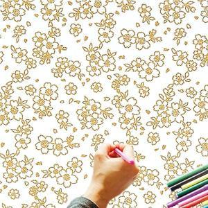 大人のぬり絵 ちりめん細工  一越ちりめん 布 に色を塗る新感覚の「ぬりえ」 花ぬりえ 夢見ざくら|shugeiya
