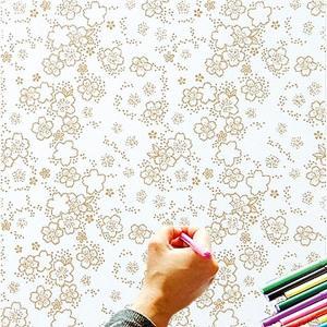 大人のぬり絵 ちりめん細工  一越ちりめん 布 に色を塗る新感覚の「ぬりえ」 花ぬりえ 花だより|shugeiya