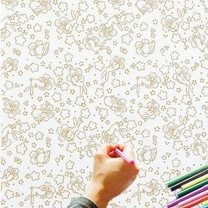大人のぬり絵 ちりめん細工  一越ちりめん 布 に色を塗る新感覚の「ぬりえ」 花ぬりえ 花見うさぎ|shugeiya