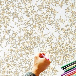 大人のぬり絵 ちりめん細工  一越ちりめん 布 に色を塗る新感覚の「ぬりえ」 花ぬりえ かくれんぼ|shugeiya