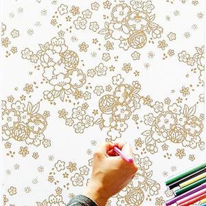 大人のぬり絵 ちりめん細工  一越ちりめん 布 に色を塗る新感覚の「ぬりえ」 花ぬりえ 花あそび|shugeiya