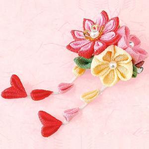 つまみ細工 キット ちりめん 花束のブローチキット(ピンク)|shugeiya