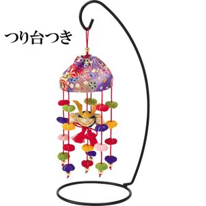 ちりめん細工 キット 豆傘つるし 兜(つり台S付き)|shugeiya