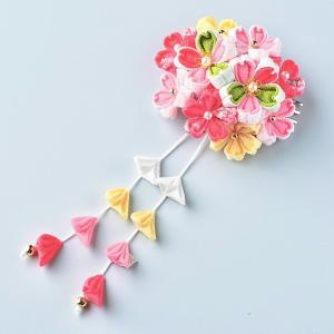 つまみ細工 キット 京ちりめん はなやぎ 髪飾りキット(ピンク)|shugeiya