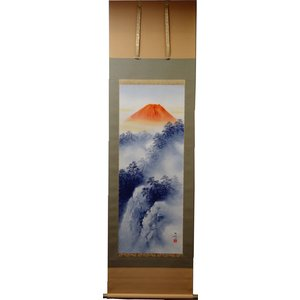 掛軸「赤富士山水」 吉井大起|shukeido-net