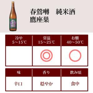 日本酒 春鶯囀 (しゅんのうてん) 純米酒 鷹座巣 (たかざす) 1800ml (萬屋醸造店 山梨県)|shunnoten|02