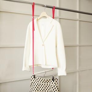 5本までメール便対応 クローゼット収納 クローゼットブランコW25 洋服の選びやすさ&収納効率UP 簡単に2段バーができる|shuno-su